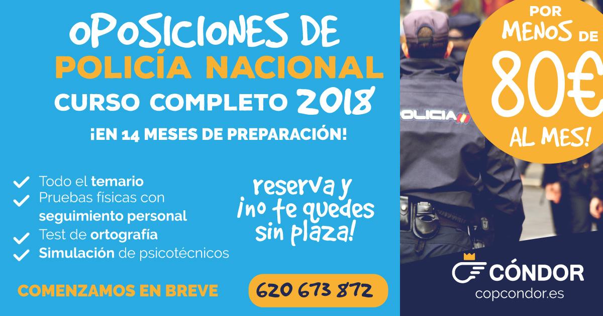 PROMOCIÓN 2018 POLICÍA NACIONAL