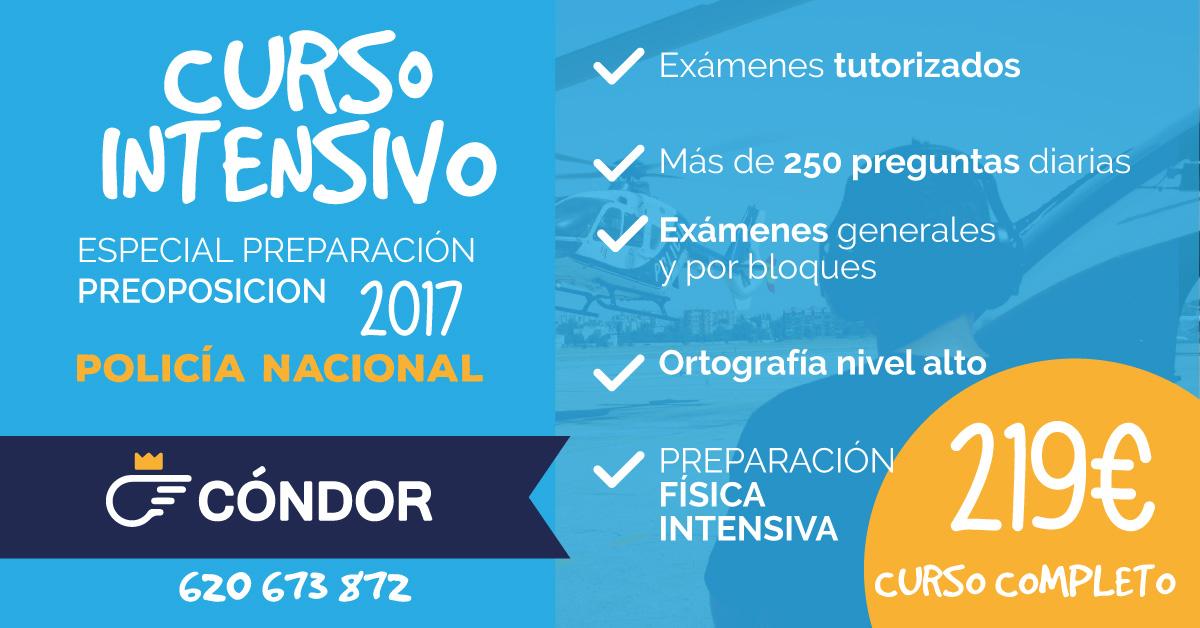 ESPECIAL PREPARACIÓN PREOPOSICIÓN 2017